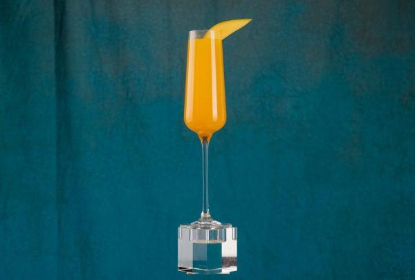 Glass of Mango Bellini